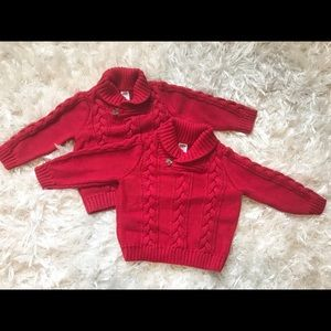 Boys Old Navy Red Sweaters 12-18 months